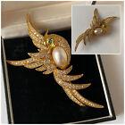 Vintage Jewellery Rare Butler and Wilson Swarovski Crystal Bird Brooch (AF)