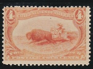 USA 1898 MNH 4c ORANGE INDIAN HUNTING BUFFALO TRANS-MISSISSIPPI ISSUE