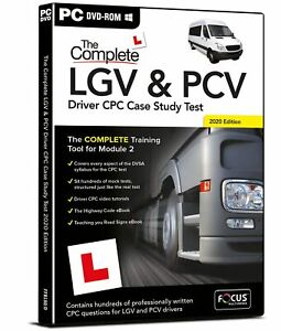 The Complete LGV & PCV Driver CPC Case Study 2021 Theory Test Retail PC DVD Rom