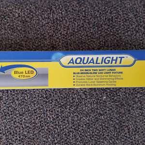 """CORALIFE AQUALIGHT LED/LUNAR BLUE-MOON-GLOW AQUARIUM LIGHT FIXTURE 24"""""""