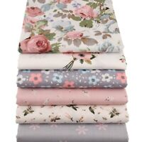 Cotton Fabric Twill Floral Series Sewing Quilting Fat Quarters Patchwork Cloth