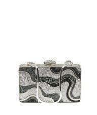 Judith Leiber Silver Multi Color Crystal Evening Bag