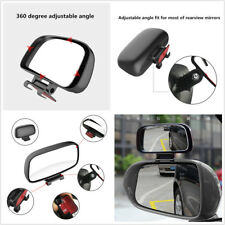 Car Black Adjustable Angle Side Rear Mirror Blind Spot Rearview Mirror Universal