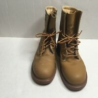 Stylflex ISECD Mens Brown Leather Custom Grade Steel Toe Boots Shoes Size US 6.5