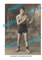 OLD LARGE PHOTO OF MAITLAND NSW CHAMPION AUSTRALIAN BOXER LES DARCY c1910 2