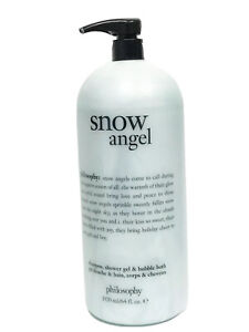 Philosophy SNOW ANGEL Shampoo, Bath & Shower Gel 64oz NEW UNSEALED