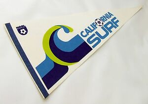 "VINTAGE NASL CALIFORNIA SURF SOCCER PENNANT, 1978 FULL-SIZE 30"", MINT RARE"