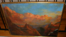 """28"""" Vintage oil canvas painting Southwest Grand Canyon  mystery artist"""