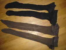 lot de 2 Paire bas auto-fixan 15 D T-39/44  tres doux gay int noir + marron