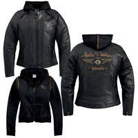 Harley Davidson Women's 110th Anniversary Black Leather Jacket S 97148-13VW Rare