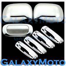 05-10 Dodge Dakota Chrome Mirror+4 Door Handle With PSG Keyhole+Tailgate Cover