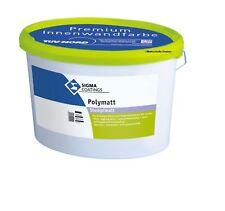 Angebot ! 12,5 Liter Sigma Polymatt weiß matt Wandfarbe Premium Doppeldecker Top