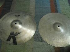 "14"" Vintage 80s Zildjian K EAK Early American K HiHats Hi Hats Cymbals"