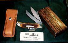 "Schrade 25OT Knife & Sheath 1980's Old Timer 5-1/4"" Closed W/Original Packaging"