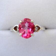 Handmade Sterling Silver Brazilian Pink Topaz Ring