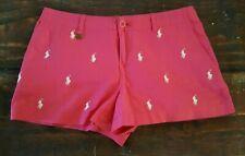 Polo Ralph Lauren Fuchsia Shorts Women's 100% Cotton Size 14