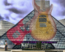 Rock and Roll Hall of Fame, Cleveland, Fine Art Photo, 11x14 Matted Photo,Summer