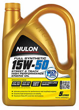 Box Of 3 Nulon Full Synthetic 15W50 Street Track Engine Oil 5L SYN15W50-5