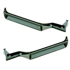 Metal Inside Door Handles Set Pair LH RH Black for 87-96 F150 F250 F350 Bronco