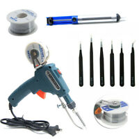 60W Electric Soldering Iron Gun With Solder Wire Tin + Tweezer + Solder Remover