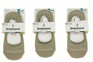 Smartwool 250670 Womens Secret Sleuth No Show Socks Set Of 3 Oatmeal Size Medium