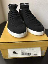 NEW Authentic FENDI Men's Tech Knit Sock Sneakers Shoes Black Size 8UK/9US