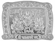 Amazing Silver Laxmi Ganesh Paana Yantra For Puja From Jaipur (9 Gram Approx)