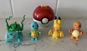 Pokemon Mega Construx Figure Lot Pikachu Charmander Bulbasaur building toys
