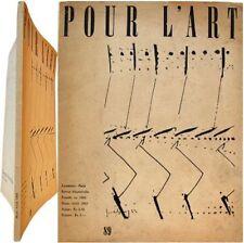 Revue Pour l'Art n°89 1963 Otto Hahn dessins Sonderborg Cubisme René Berger