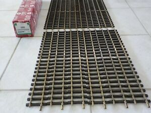LGB 10600 BRASS 2 FOOT STRAIGHT TRACK BOX OF 12 PIECES G Scale