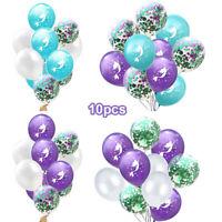 Latex Party Event Decor Mermaid Balloons Glitter Confetti Birthday Wedding-