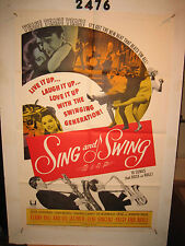 Sing and Swing Original 1sh Movie Poster '64 love it up, swinging generation!