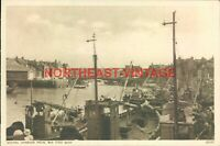 WHITBY HARBOUR FROM THE FISH QUAY VINTAGE  POSTCARD YORKSHIRE