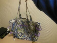 Laura Ashley Seaside Beach Tote Purple Green Paisley Vacation Picnic Bag