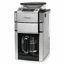 Capresso 487.05 Team Pro Plus Glass Carafe Coffee Maker With Grinder, Silver4136