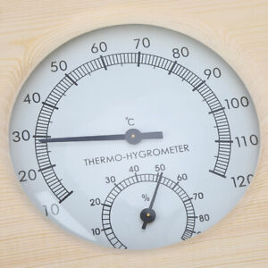 Wood Thermo‑Hygrometer Thermometer Hygrometer For Bathroom Sauna Room Accessory