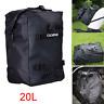 Black Motorcycle Rear Seat Tail Bag Side Luggage Storage Backpack Waterproof 20L