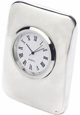 Heavyweight Cushion Desk Clock In Sleek Curved Design
