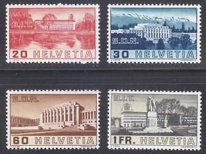 Switzerland 1938 MNH Mi 321-324 Sc 238-241 Assembly Hall of the Palace ***