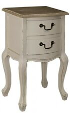 * **CLEARANCE*** ANTIQUE CREAM COUNTRY STYLE BEDSIDE SIDE END TABLE (ZJW079)