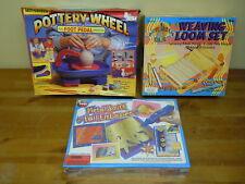 Motorized Pottery Wheel w/ Foot Pedal Weaving Loom Set Metal Smith Foil Embosser