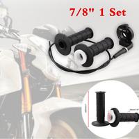 """2Pcs Black 7/8"""" 22mm Twist Throttle Handle Bar & Cable Set For 50-250cc Motors"""