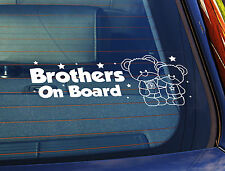 Static Cling Window Car Sign/Decal Sticker Brothers On Board Lil Teds