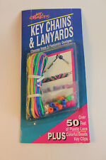 kids craft Key chains and lanyards Book kit with pony beads and plastic lace