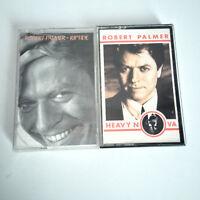 2x ROBERT PALMER Cassette Tape Lot - Riptide, Heavy Nova -EX