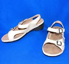 059ba245c54 NEW BAREFOOT FREEDOM 10.5 WW BEIGE LEATHER WOMENS SANDALS SHOES