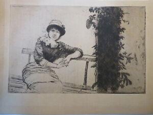 Giuseppe DE NITTIS (1846-1884) Gravure Originale IMPRESSIONNISME ITALIE 1881