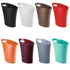 Trash Waste Can Unique Modern Office Bathroom Basket Litter Garbage Bin 9 Colors