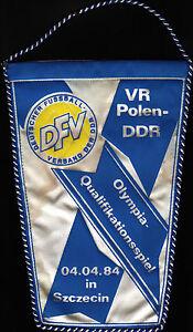 Wimpel Olympia-Qu. 04.04.1984 Polen - DDR in Szczecin