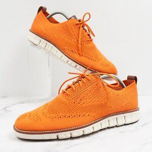 Cole Haan Zerogrand Wingtip Oxfords Orange Brown White C24949 Size 9.5
